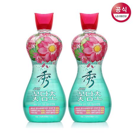 [LG생활건강] 샤프란 꽃담초 수 고농축 섬유유연제 용기 1.3L x2개
