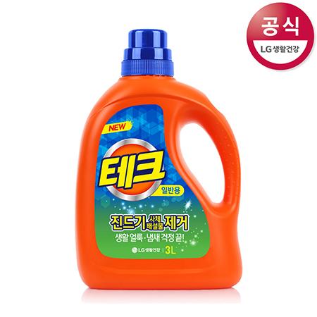 [LG생활건강] 테크 액체세제 용기 3L(드럼용)