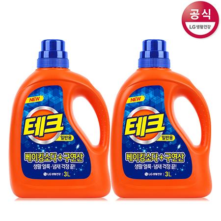 [LG생활건강] 테크 액체세제 용기 3L x2개(드럼용)