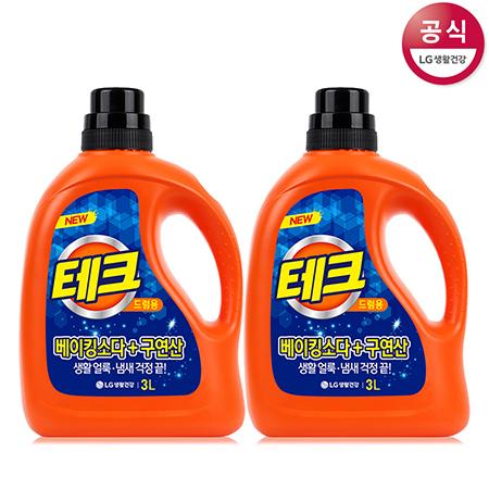 [LG생활건강] 테크 액체세제 용기 3L x2개(일반용)
